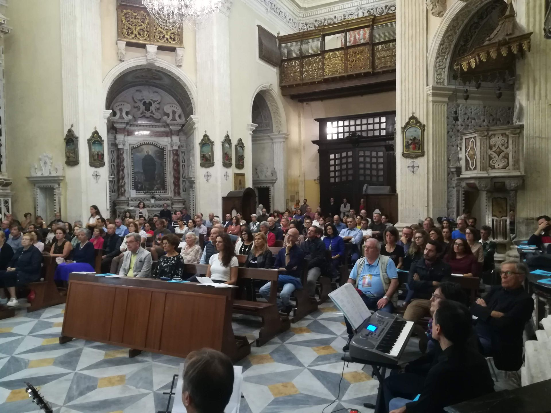 Celebrazione presso la chiesa di san Michele a Cagliari